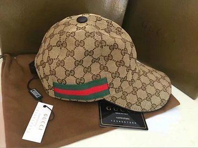 81305f6afdcce Hats 52365  Gucci Hat Men S Women Canvas Baseball Cap Adjustable Size M -   BUY IT NOW ONLY   75 on eBay!