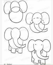 Paso A Paso Dibujo Elefante Manualidades Para Niños In 2019