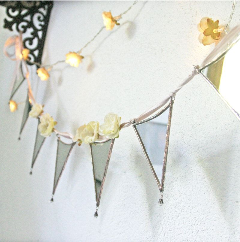 A Vintage Home  mirrored glass bunting garland MADE by PamelaAngus, €44.00