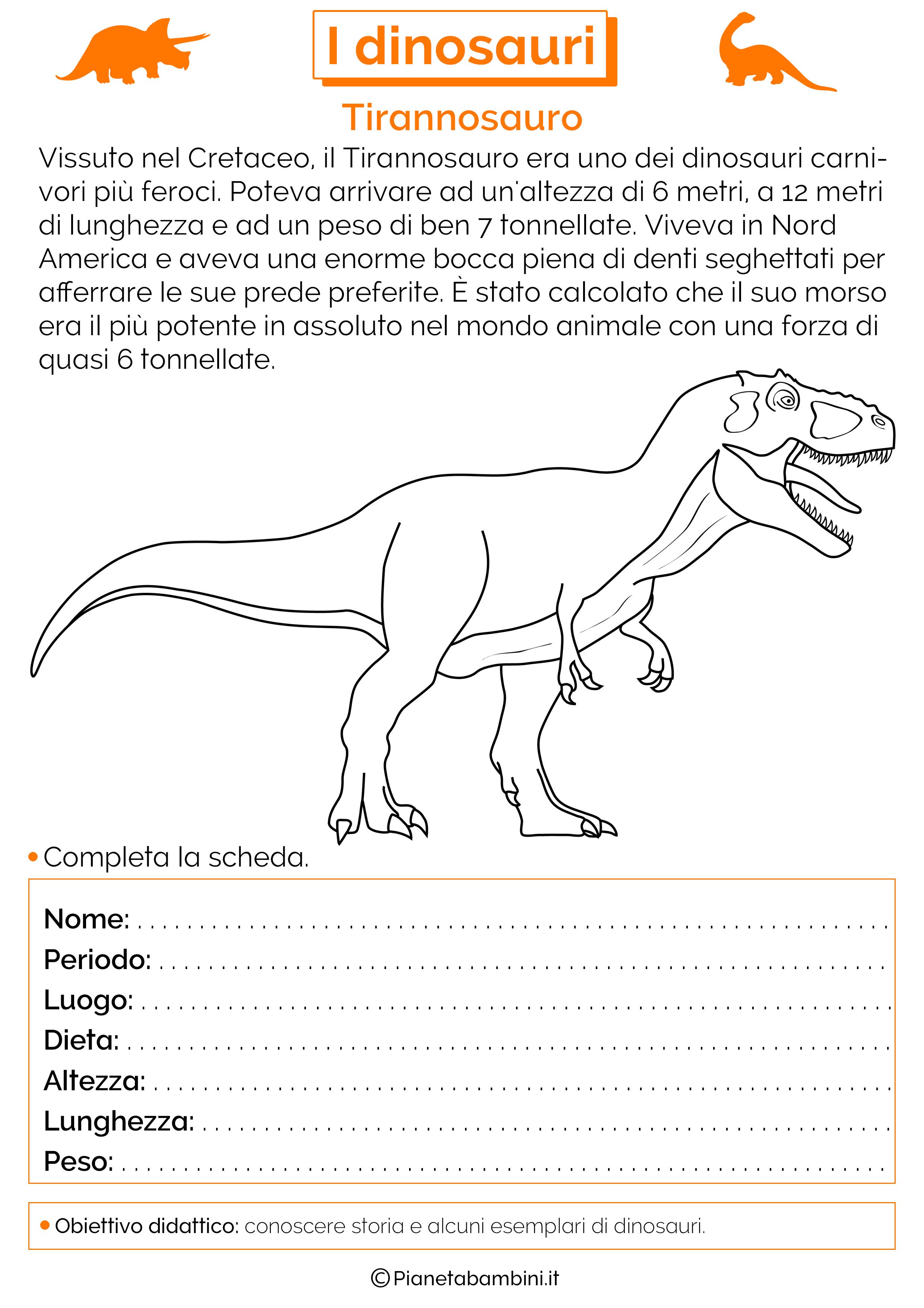 I Dinosauri Schede Didattiche Per La Scuola Primaria Dinosauri