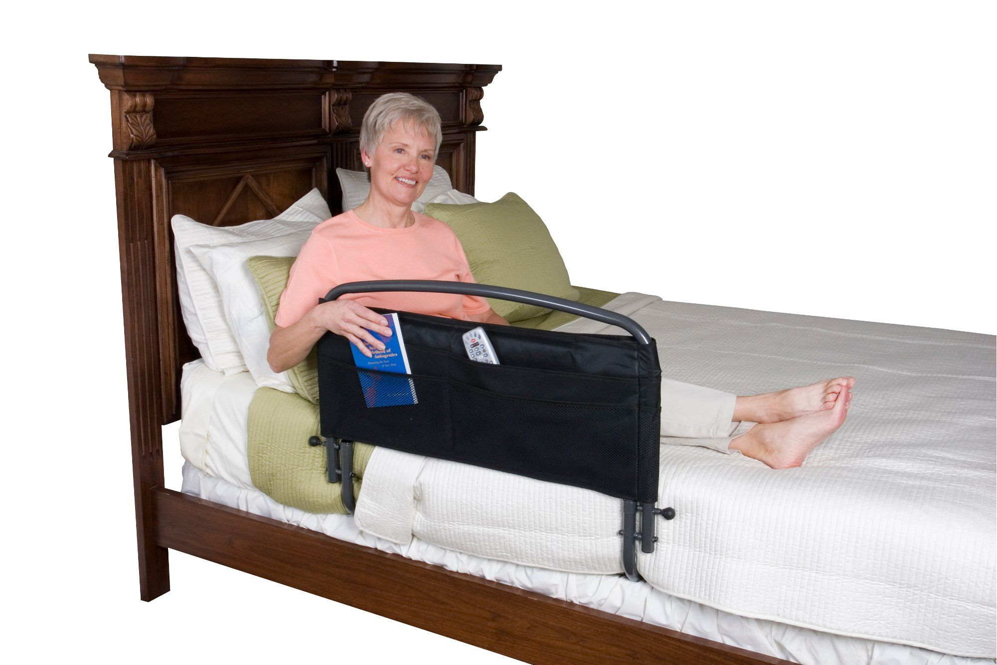 Black Bed Rail & Padded Pouch (30 Inch) Rails Collection