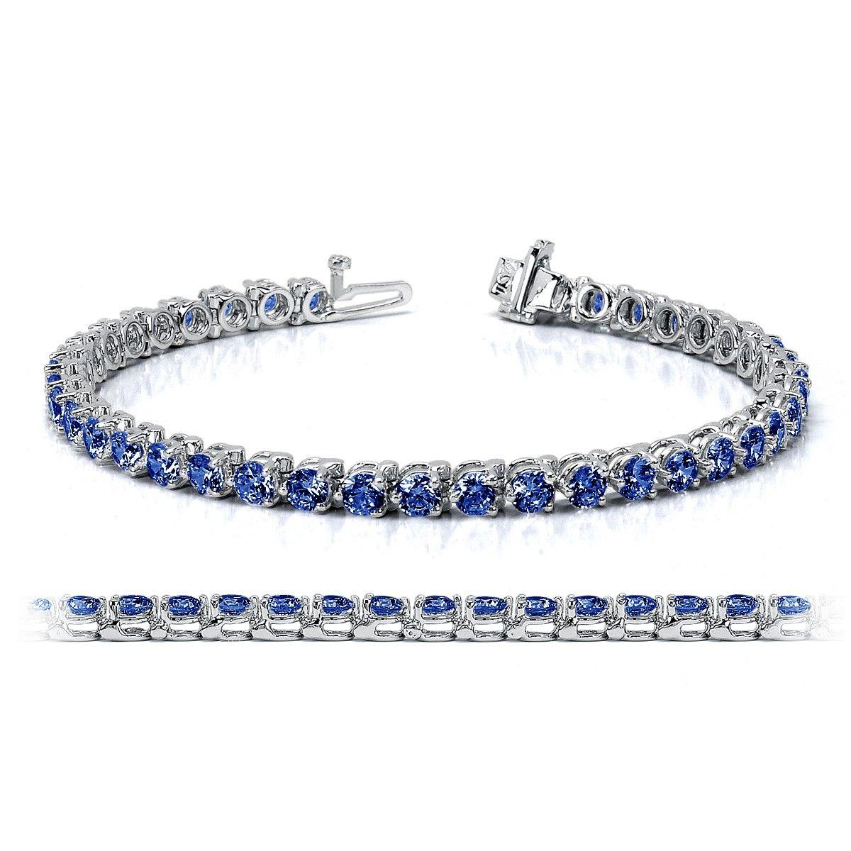 Fantasia Sterling Silver & Palladium Marquise & Round Tennis Bracelet 5V0UwF