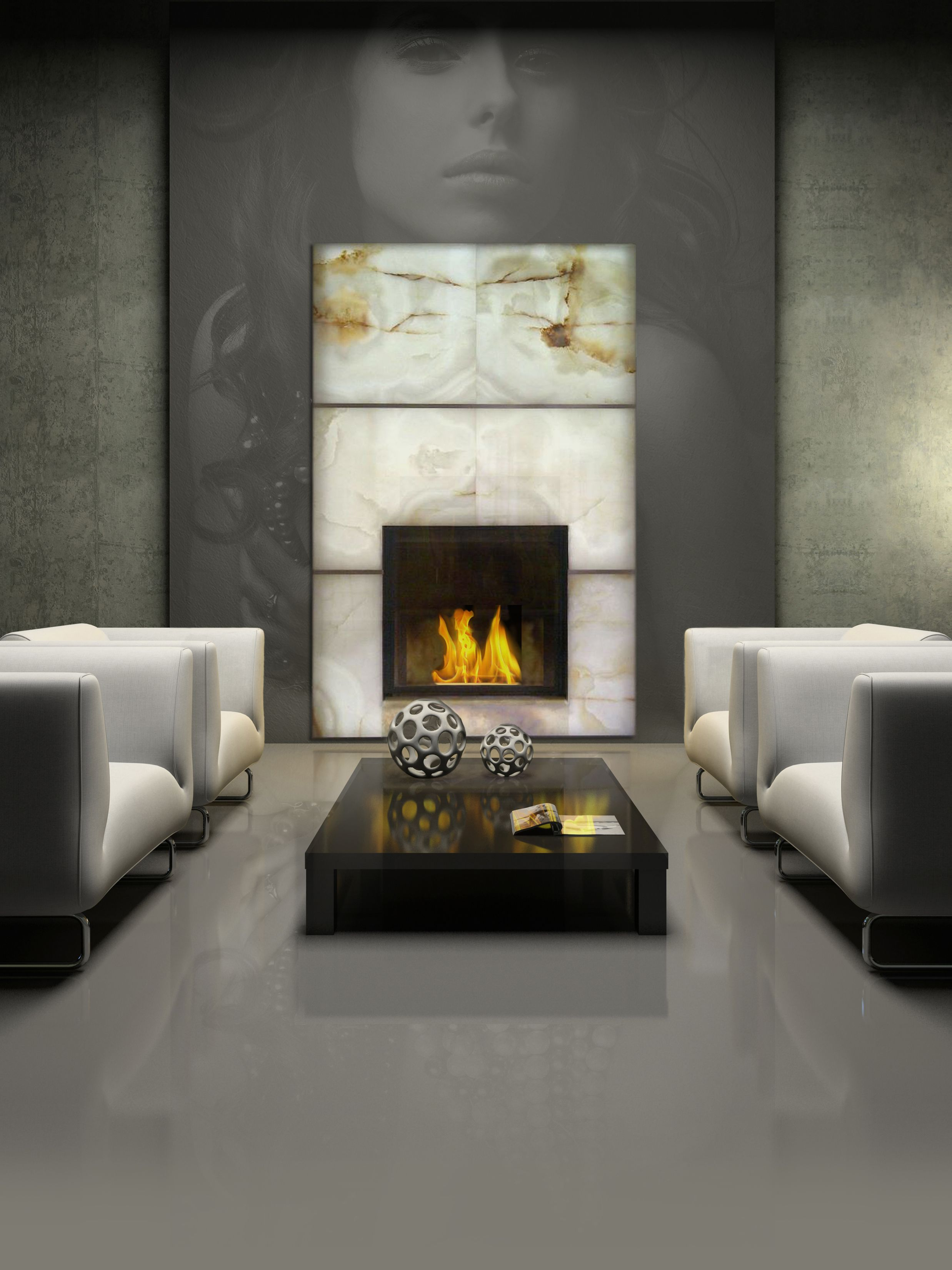 Onyx fireplace facings and mantels | York Fabrica - Toronto, Ontario ...