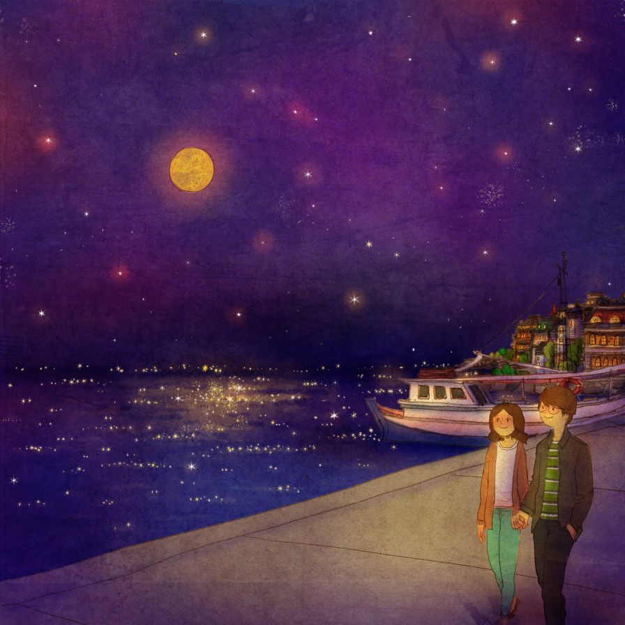 We ran outside where all the little lights in the harbour were twinkling and walked along eighth story I picked up is by Chrissy Lippett.