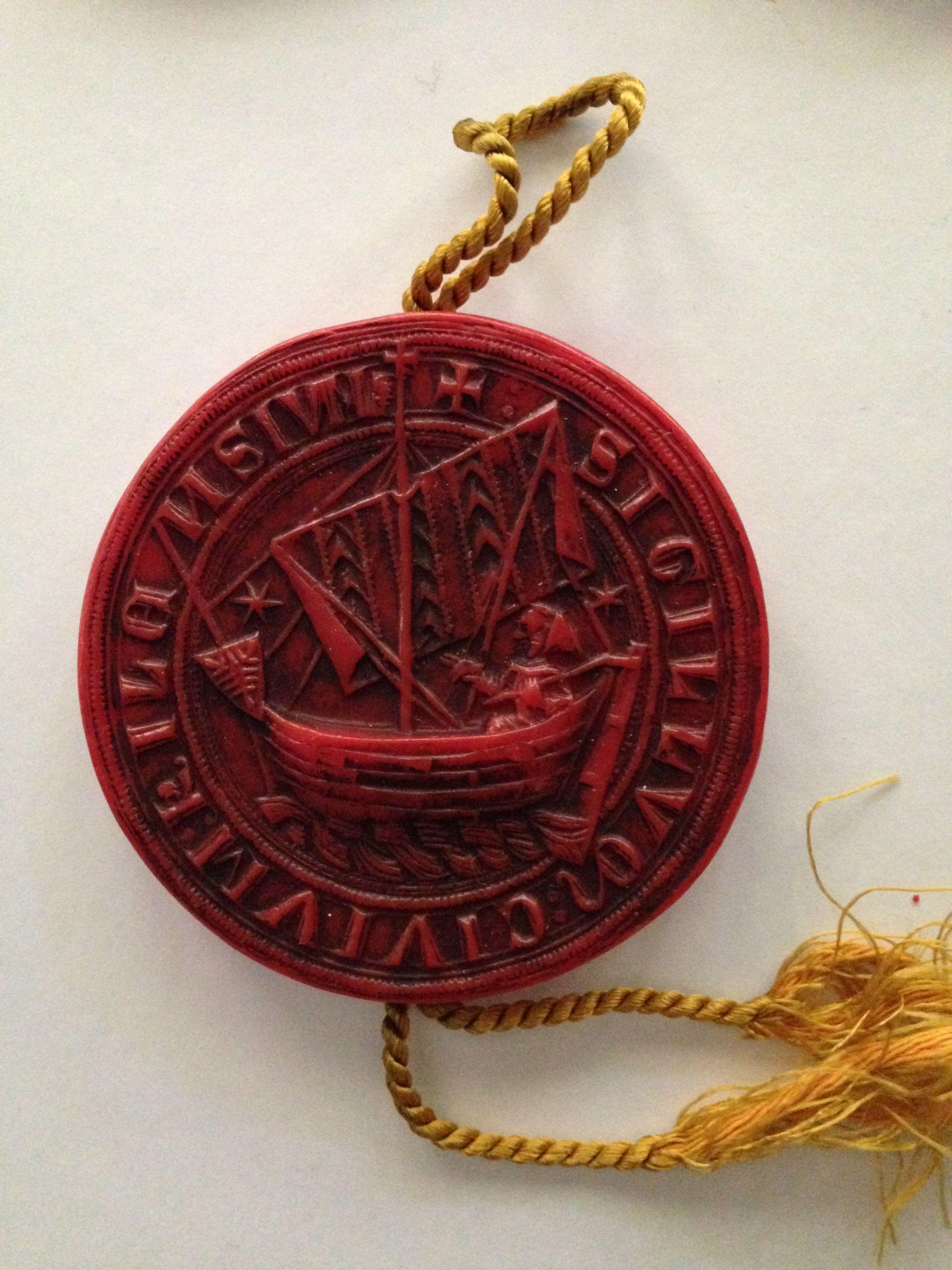 City Seal Of Kiel 1365 Medieval Jewelry Fine Writing Instruments Wax Seals