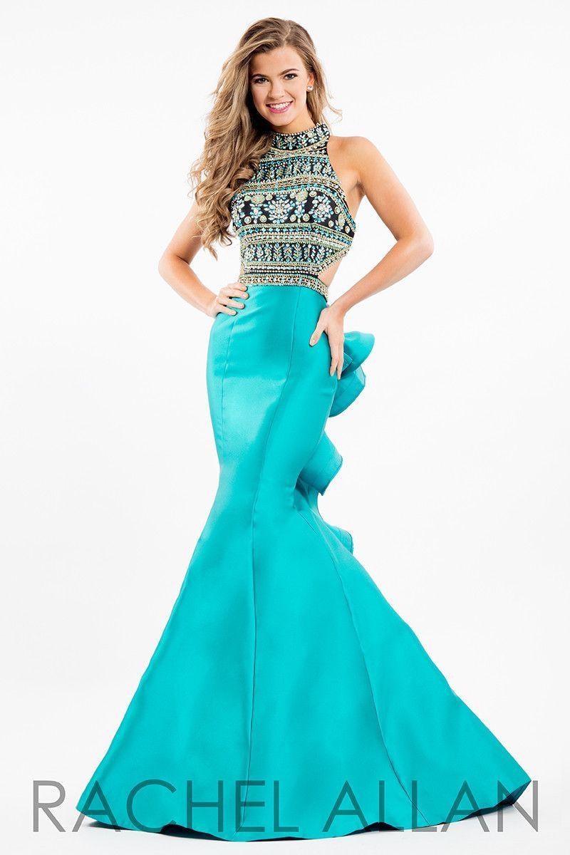 Rachel allan blackteal mermaid prom dress cassieus favorite