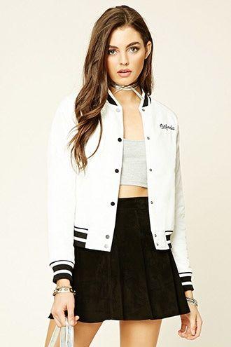 California Varsity Jacket | Jacket outfit women, Fashion