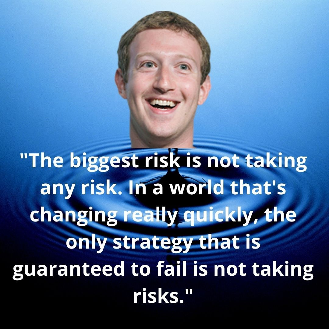 Mark Zuckerberg Thoughts On The Social Network Taking Risk Content Writing Social Networks