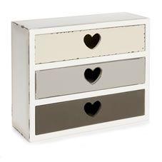 Bedrooms · Wilko Heart Three Drawer Storage Box  sc 1 st  Pinterest & Wilko Heart Three Drawer Storage Box   INTERIOR DESIGN   Pinterest ...