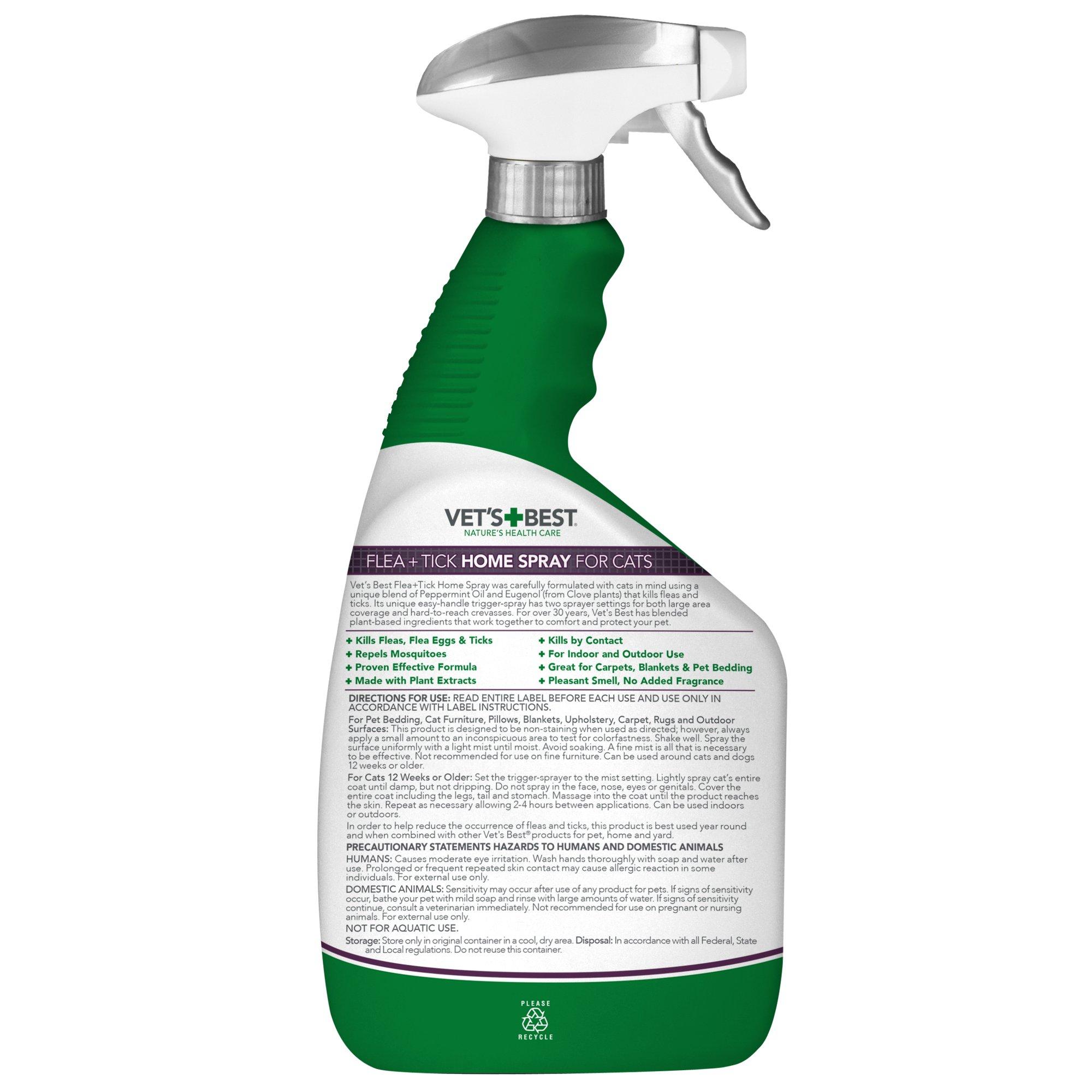 Vet's Best Flea & Tick Home Spray for Cats, 32 fl. oz., 32