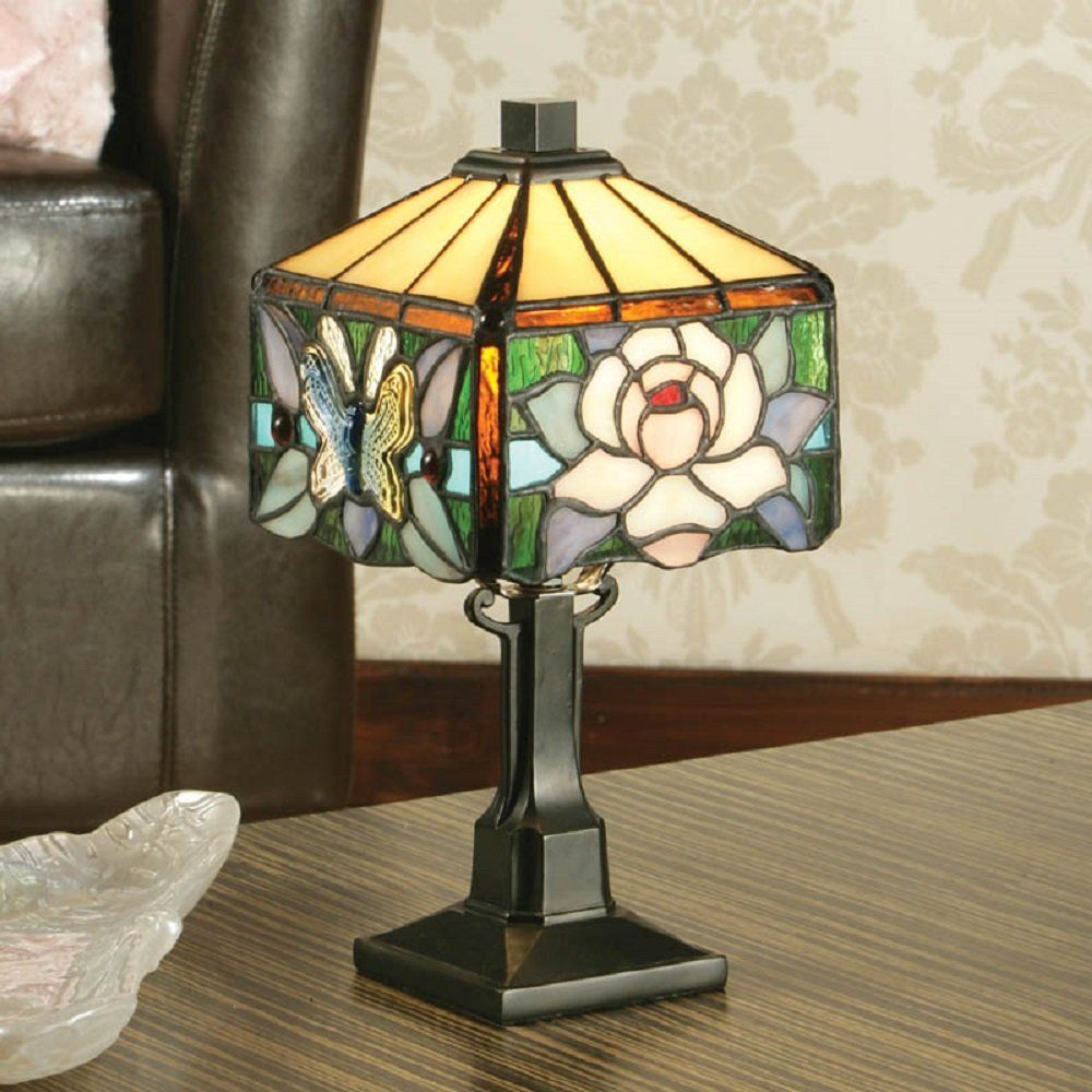 Lighting art nouveau lamps and natural forms pinterest small art nouveau style tiffany table lamp with pink mackintosh rose geotapseo Image collections