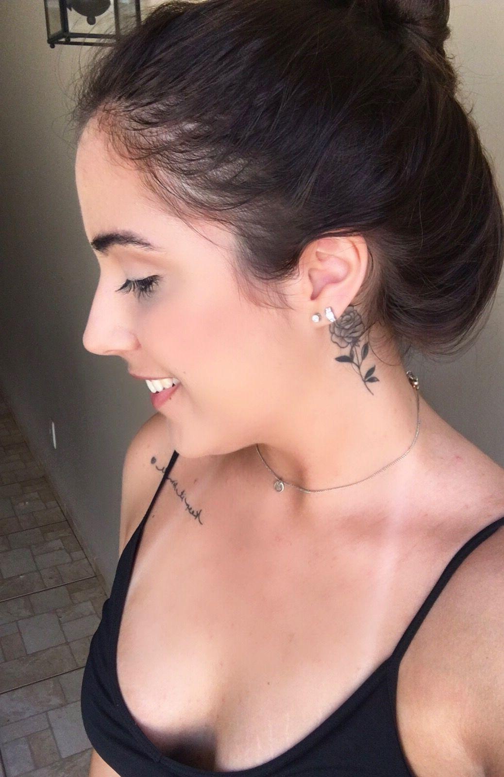 Placement Tatuagem Pescoço Feminina Tatuagem Feminina E