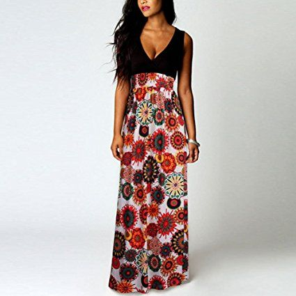 6d2192bd4 Amazon.com: Largo Verano Vestido, Cicuta de la mujer noche vestido ...