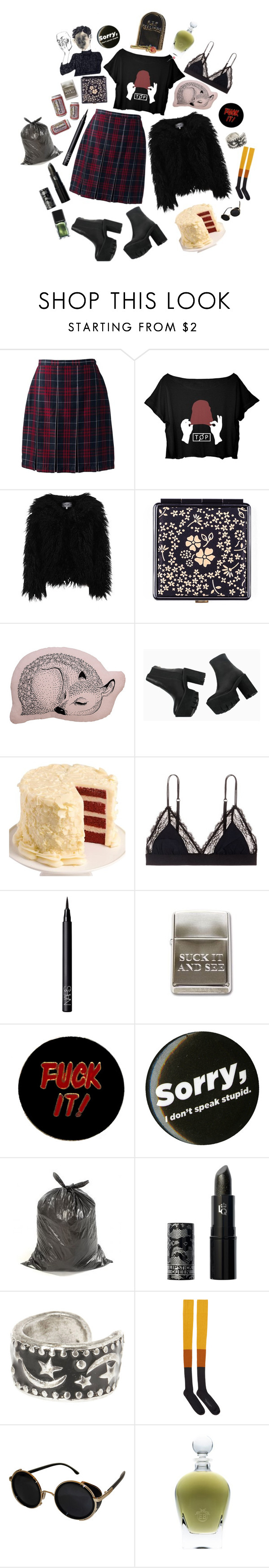 """Vera"" by anna-pensky ❤ liked on Polyvore featuring Lands' End, Dry Lake, Black, Bloomingville, We Take the Cake, LoveStories, NARS Cosmetics, Humör, Lipstick Queen and STELLA McCARTNEY"