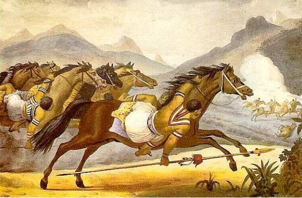 Debret - Carga de cavalaria guaicuru - Povos indígenas do Brasil – Wikipédia, a enciclopédia livre