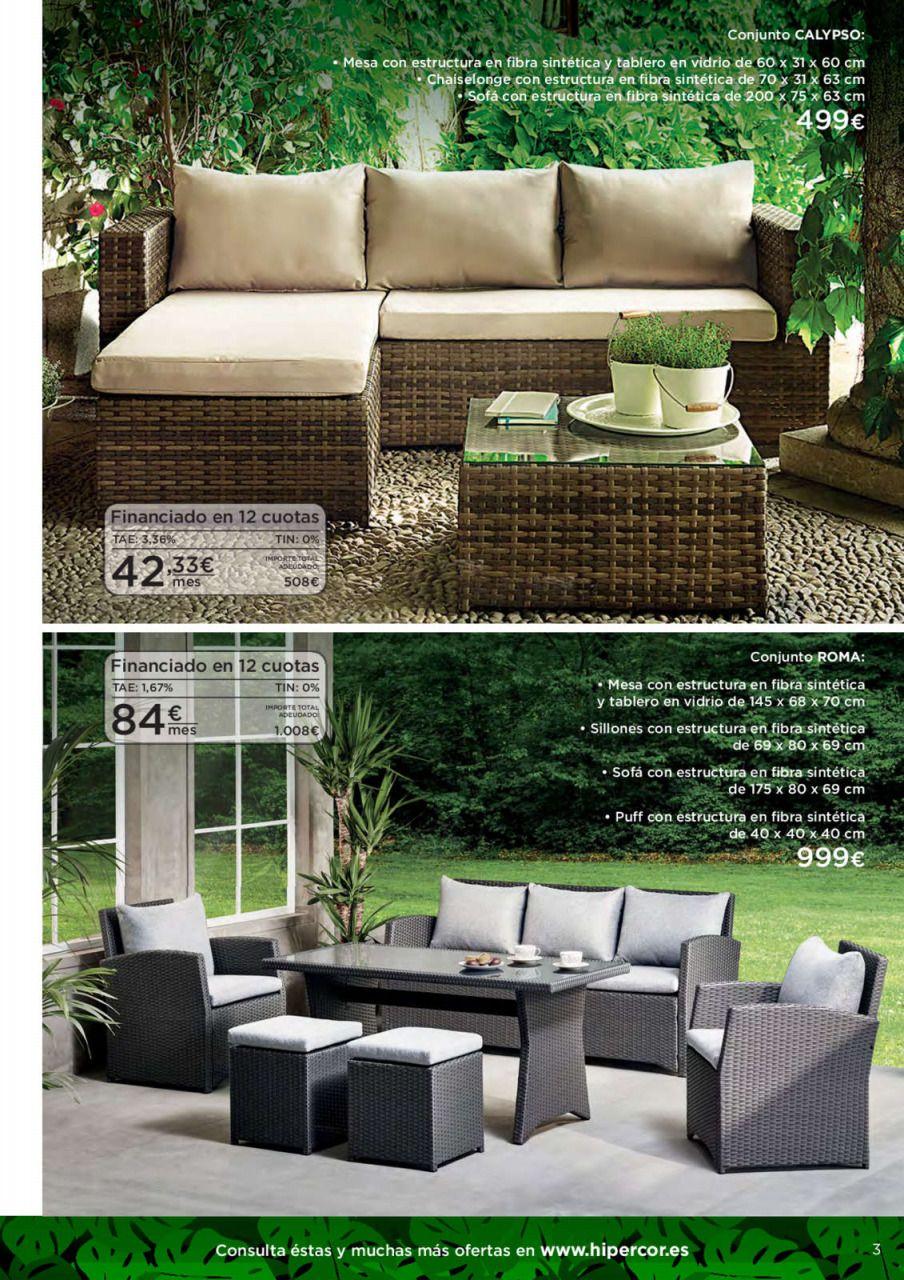 Accesorios Para El Jardin Muebles Jardin Hipercor 2020 En 2020 Muebles De Jardin Muebles Muebles De Jardín