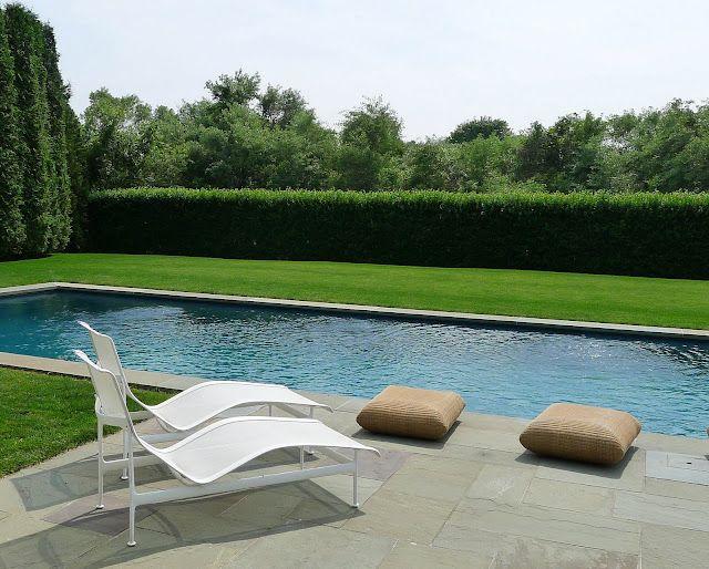 Long Horizontal Landscaping House Yard Design Simple Pool