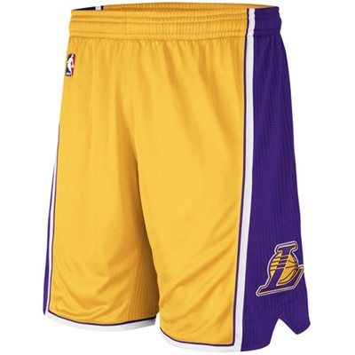 Adidas Los Angeles Lakers Revolution 30 Authentic Shorts Gold Mens Outfits Los Angeles Lakers Adidas Los Angeles