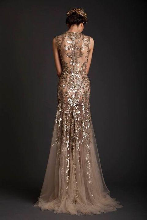 21 preciosos vestidos de novia de color dorado | normal | vestidos