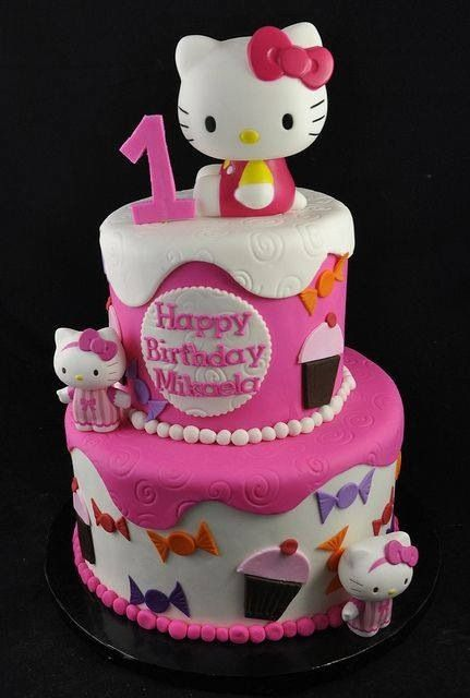 Hello kitty cakeso super cutehellokitty cake birthdaycake