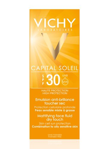 THEY SAY: Vichy Capital Soleil Mattifying Face Fluid Dry Touch is for women and men with combination or oily skin, looking for sun protection that does not leave their skin looking shiny. With Mexoryl®-based photostable, broad spectrum UVA and UVB filtering system with added long UVA protection. A mattifying formula to prevent against shine. Suitable for oily skin types. WE SAY: This Vichy SPF was my first 'proper' foray into using sun protection underneath my makeup and now I am totally…