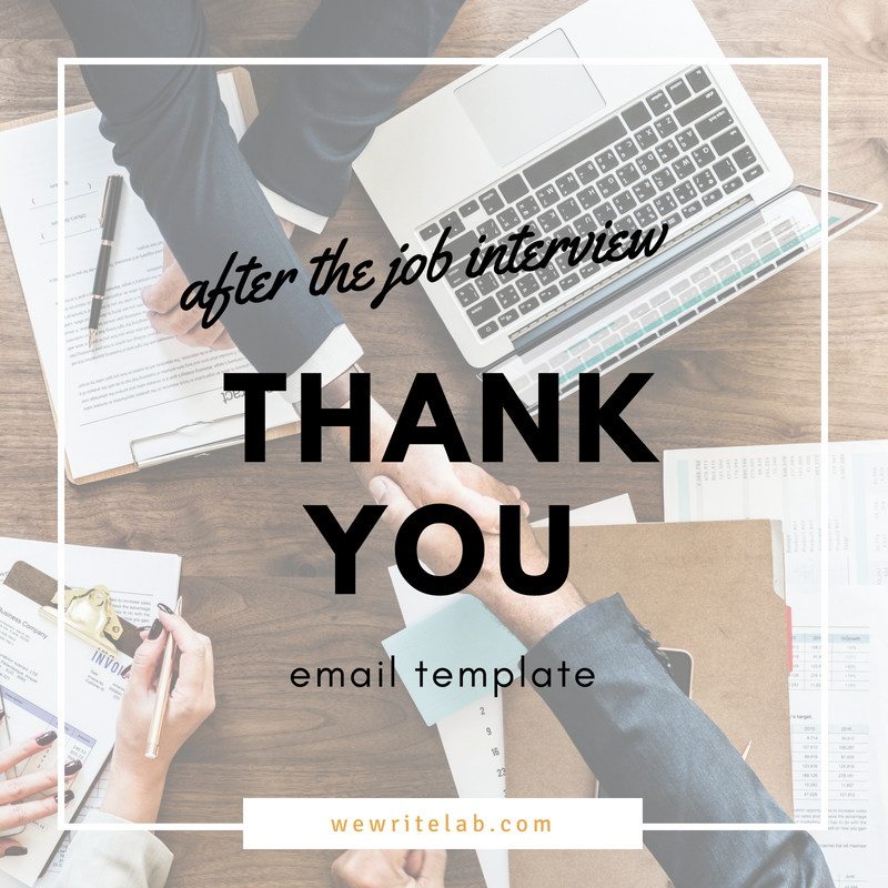 job seeker email templates post interview thank you note job