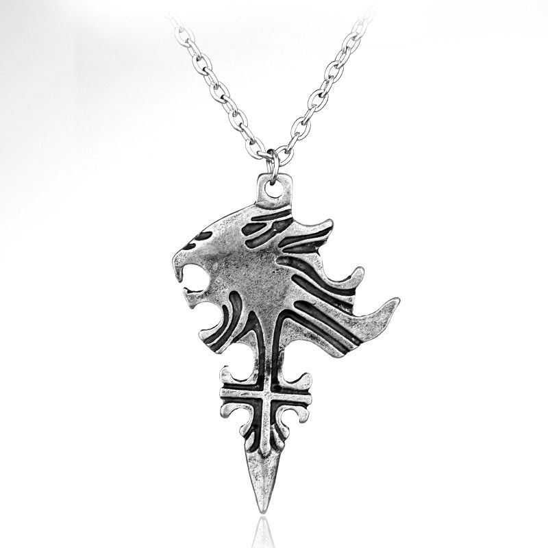 Game sliver jewelry fashion final fantasy sleep lion heart squall price tracker and history of japanese anime game cosplay final fantasy viii 8 griever squall leonhart necklace lion head pendant maxi necklace alloy jewelry mozeypictures Image collections