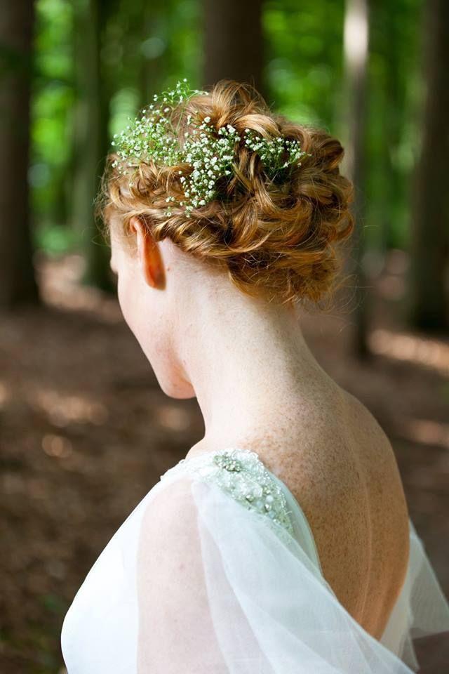 #bruidskapsel met echte bloemen