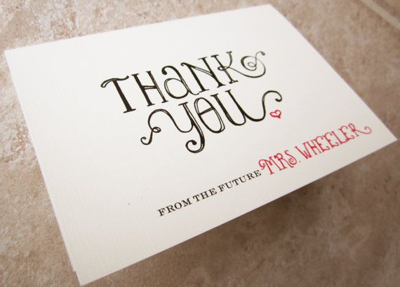 Whimsical Thank You From The Future Mrs by ByAliceBoutique on Etsy