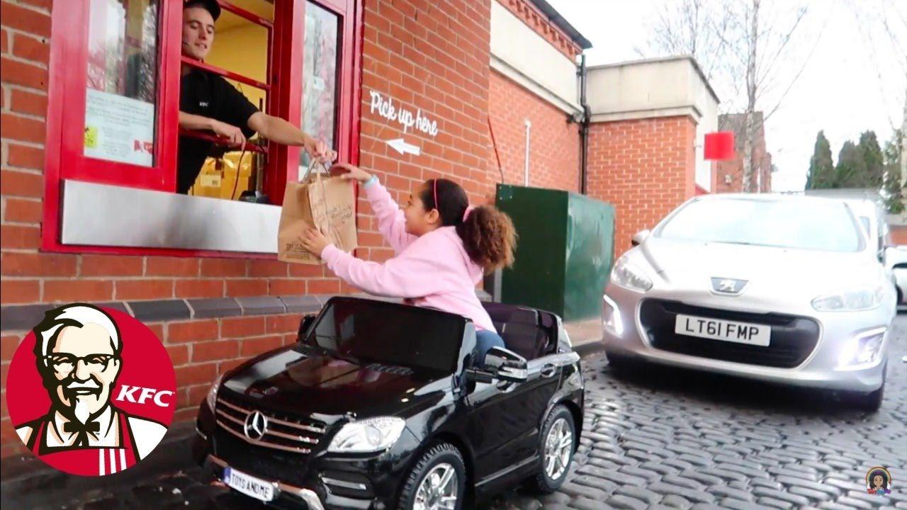 b8ca65a8c1b Bad Kids Driving Power Wheels Ride On Car - KFC Drive Thru Prank ...