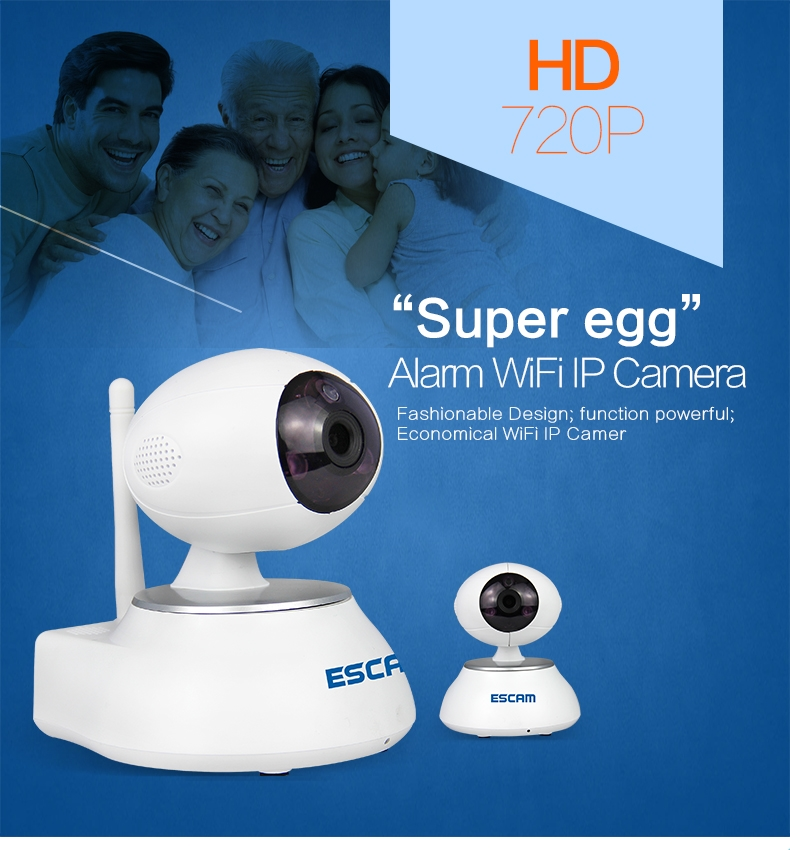 (66.48$)  Know more - http://aiy69.worlditems.win/all/product.php?id=32739906066 - ESCAM QP550  With Alarm Function 720P IP Camera