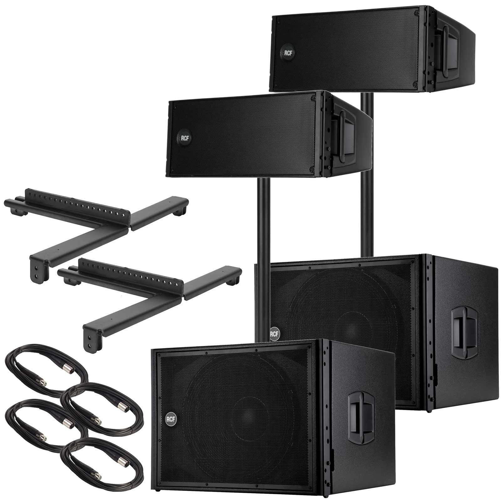 2) RCF HDL 20-A Active Line Array Module Speakers with