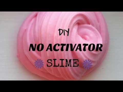 Diy No Activator Slime No Borax Liquid Starch Or Contact Lens