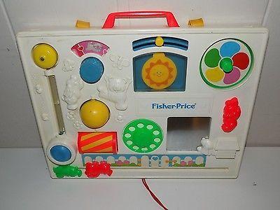 Vintage Fisher Price Activity Center Crib Toy Busy Box Flea Market