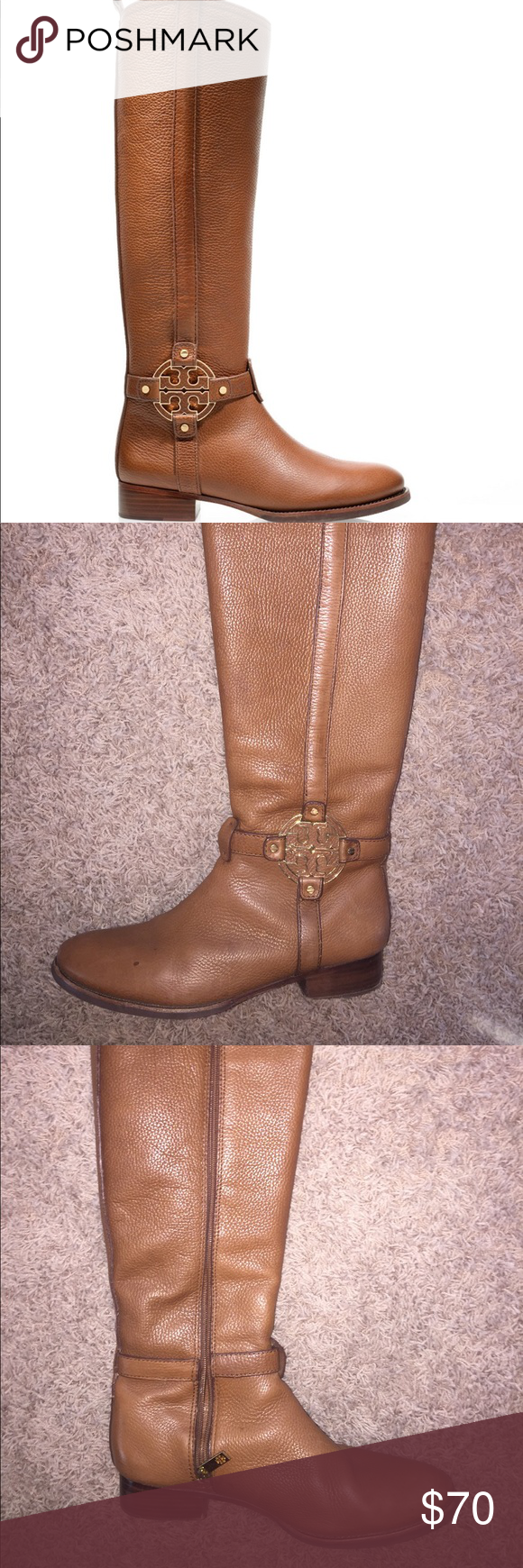 e493f66a0670 Tory Burch Riding Boots Visibly worn Tory Burch Riding Boots Tory Burch  Shoes Winter   Rain Boots