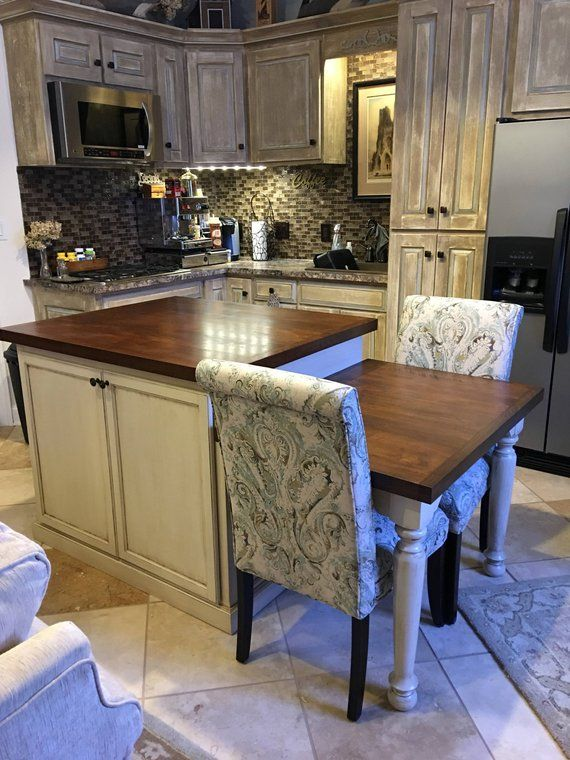 Kitchen Island With Table Height Seating Area Kitchen Island Table Rustic Kitchen Design Interior Design Kitchen Small