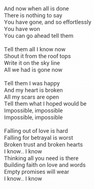 Impossible Songtext
