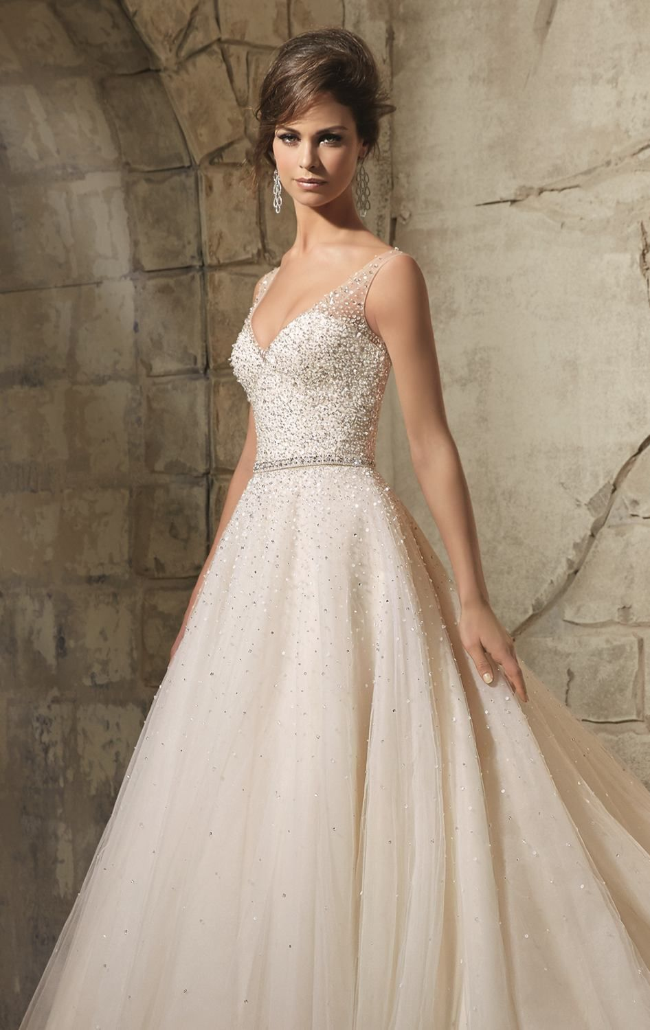 Be the most beautiful girl in your wedding in Blu by Mori Lee 5376 ...