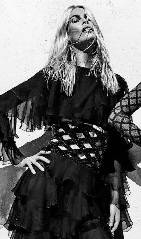 Claudia Schiffer in Ad Campaign: Balmain Spring/Summer 2016.