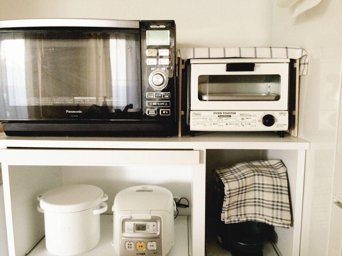 本日のdiy 100均すのこでトースター上ラックを作成 キッチン棚 キッチン 100均 すのこ