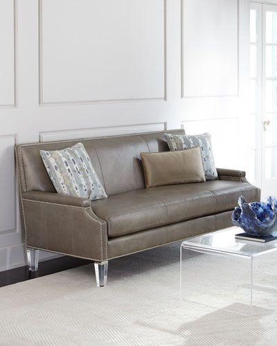 H8C5B Massoud Lucine Leather Sofa