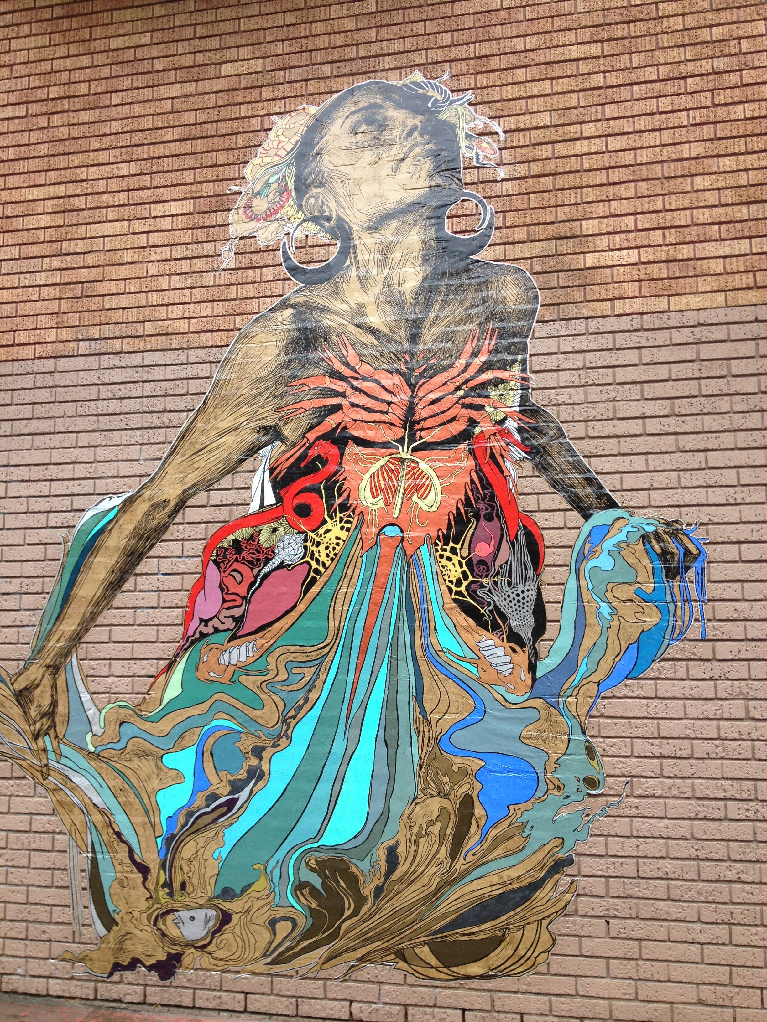 One of Swoon's pieces in the Mission, San Pancho, 2012.