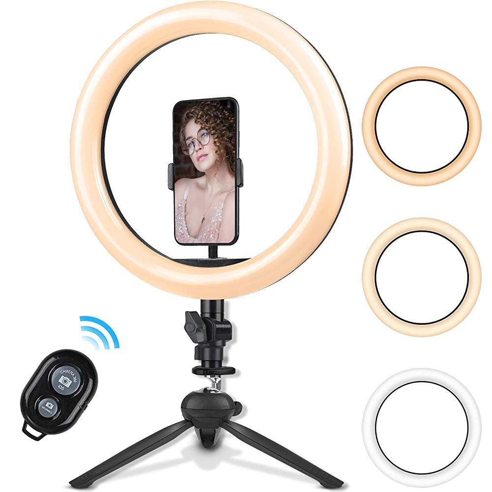 10 2 Inch Ring Light With Stand Rovtop Led Camera Selfie Light Ring With Iphone Tripod And Phone Holder For Selfie Light Camera Selfie Ring Light With Stand
