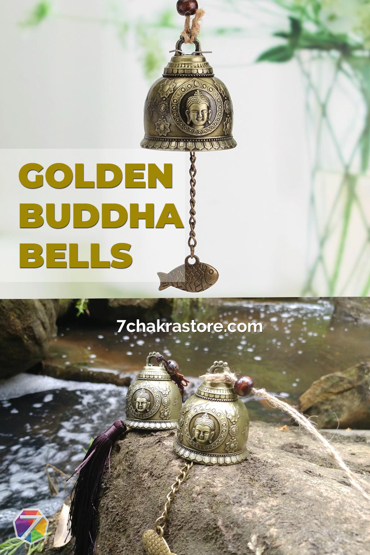 Golden Buddha Bells - Buddha Decor Ideas #buddhadecor