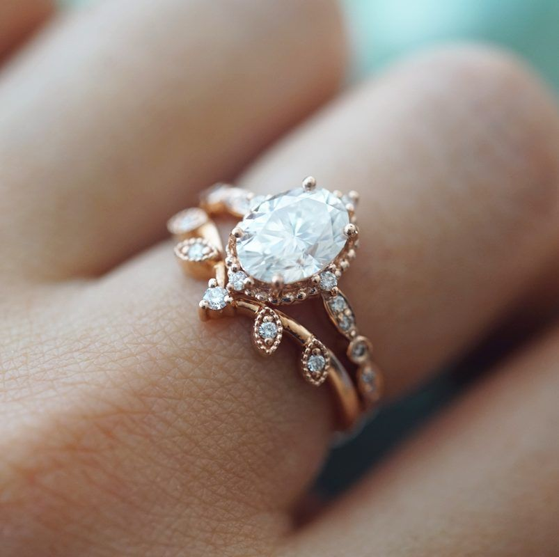 Beautiful 1.15 Ct Round Cut Genuine Moissanite With 14KT Solid  White Gold Halo  Engagement/&Wedding Ring Anniversary Ring,
