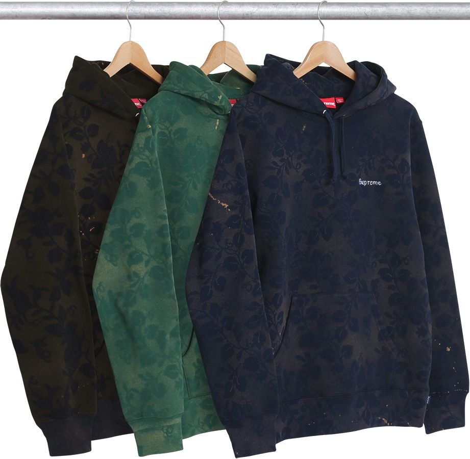 Supreme 17ss Bleached Lace Hooded Sweatshirt Men Shirt Style Custom Clothes Mens Tee Shirts [ 900 x 921 Pixel ]
