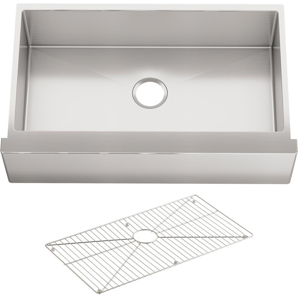 Kohler Vault Drop In Farmhouse Apron Front Stainless Steel 36 In