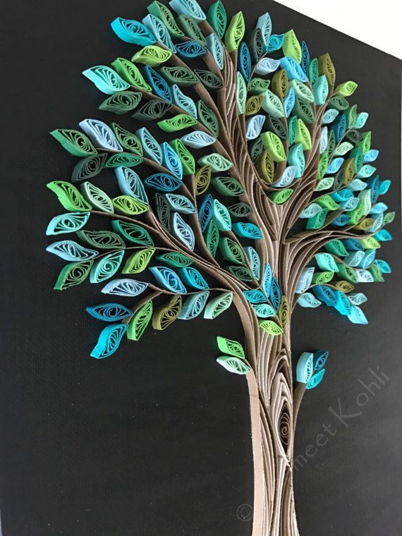 Spring Tree quilling// decorative wall art //tree home decor - #decor #Decorative #quilling #Spring - #decoration