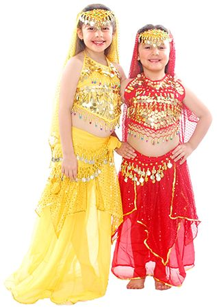 4bfd0eb89412 Little Girl's Belly Dance or Bollywood Costume - YELLOW http://www. bellydance