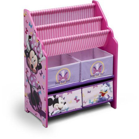 Beau Disney Minnie Mouse Book And Toy Organizer, Multicolor